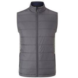Callaway Fibre Filled Puffer Vest Medium Grey Heather M Mens