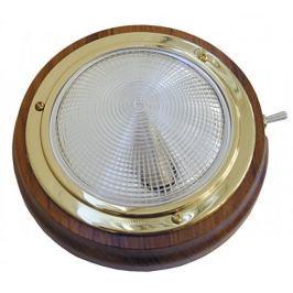 Osculati Light fixture polished brass/teak 145 mm