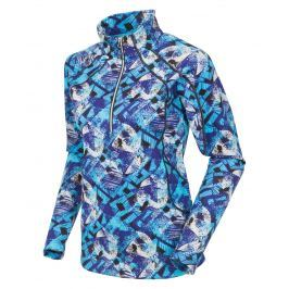 Sunice Women Megan Layers Pullover Violet Blue Flash Print M
