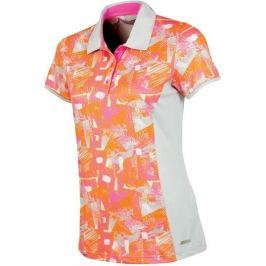 Sunice Abigail Printed Polo - M Oyster Flash Print/Neon Pink M
