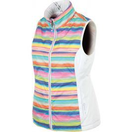Sunice Ladies Maci Reversible Vest Pure White/Multi Print XS