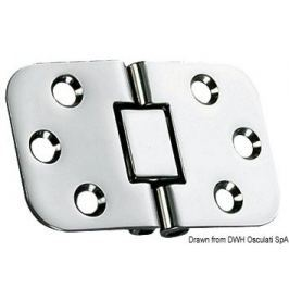 Osculati Foldable hinge 68x42 mm