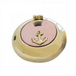 Sea-club Pocket ashtray - plain brass with copper lid