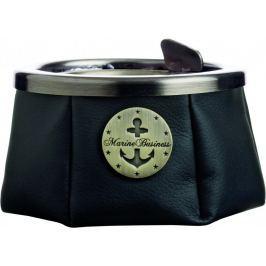 Marine Business Ashtray with lid - Premium Black - WINDPROOF