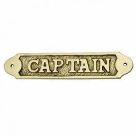 Sea-club Door name plate - CAPTAIN brass