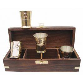 Sea-club 4 mini mugs brass - inside silverplated