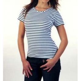Sailor Navy T-shirt short sleeve - Women White-Blue - M