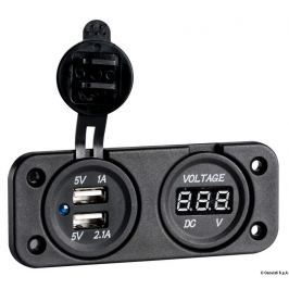 Osculati Digital voltmeter and double USB port