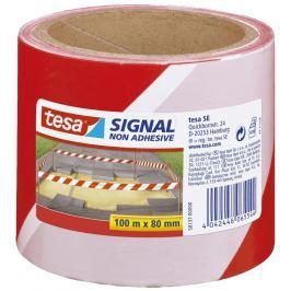 TESA Signal Tape 58137 Red-White 80 mm x 100 m