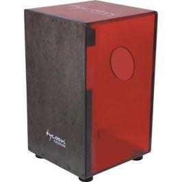 Tycoon Acrylic Cherry Red Body Cajon Black Makah Burl Frontplate (B-Stock) #910022