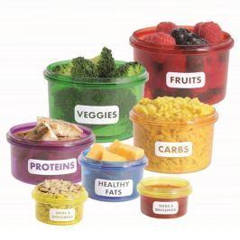 Kalóriabevitelt szabályozó ételtároló szett
