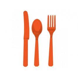 Amscan Evőeszköz - narancssárga, 8 főre