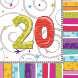 Amscan Szalvéták - 20. születésnap 16 db