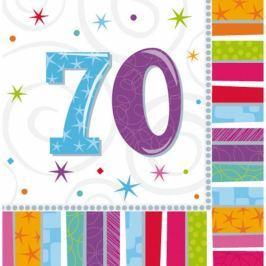 Amscan Szalvéták - 70. születésnap 16 db