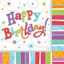 Amscan Szalvéták - boldog születésnapot 16 db
