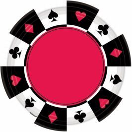 Amscan Tányérok - casino 8 db