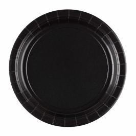 Amscan Tányérok - fekete 8 db