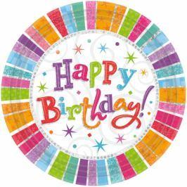 Amscan Tányérok - boldog születésnapot 8 db