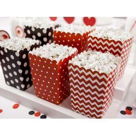 PartyDeco Dekoratív popcorn boxok - Katicabogár 6 db