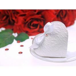 PartyDeco Doboz - fehér, szív alakú, maslival