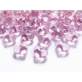 PartyDeco Kristály szívecskék - világos rózsaszín 21 mm