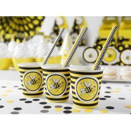 PartyDeco Poharak - méhecske motívummal 6 db