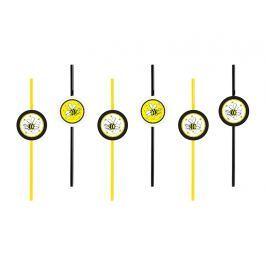 PartyDeco Szívószálak - méhecske motívummal 6 db