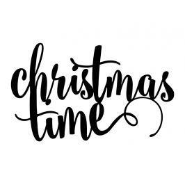 PartyDeco Christmas time dekoráció - fekete 1 db