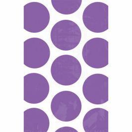 Amscan Papír tasakok - pöttyös, lila 10 db