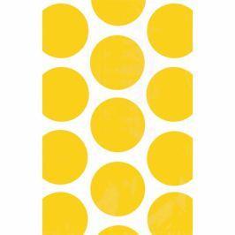 Amscan Papír tasakok - pöttyös, sárga 10 db
