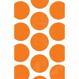 Amscan Papír tasakok - pöttyös, narancssárga 10 db