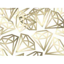 PartyDeco Konfetti - arany gyémánt 12 db