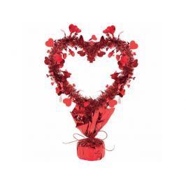 Amscan Asztali dekoráció - piros szív 35 cm