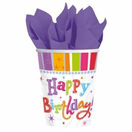 Amscan Poharak - boldog születésnapot 8 db