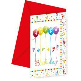 Procos Meghívók - vidám születésnap 6 db