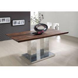 PLAIN SHEESHAM étkezőasztal 220x100cm, olajozott indiai paliszander, szürke