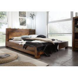 DAKOTA ágy 140x200cm, masszív indiai paliszander