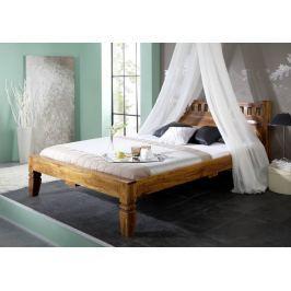 CAMBRIDGE HONEY koloniál ágy 140x200cm, masszív akác, mézszínű