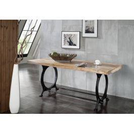 INDUSTRY étkezőasztal 180x90cm, öntvény és öregfa