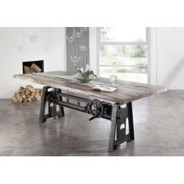 INDUSTRY étkezőasztal 200x100cm, öntvény és öregfa