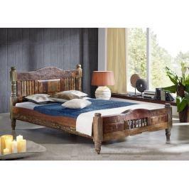 COLORES ágy 120x200cm lakkozott indiai öregfa