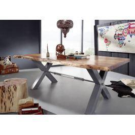 DARKNESS Étkezőasztal 240x110cm X-lábak - ezüst