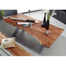 DARKNESS Étkezőasztal 200x100cm X-lábak - ezüst