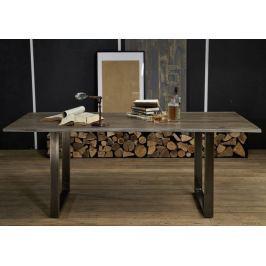 ROUND Étkezőasztal METALL 180x90cm, indiai paliszander