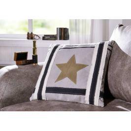 LINEN Dekoratív párna 45x45 cm - Star