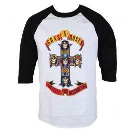 metál póló férfi Guns N' Roses - AFD RAGLAN-WHITE/BLACK - BRAVADO - 12161697