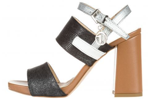 Trussardi Jeans Magassarkú cipő Barna Ezüst Magassarkú cipők