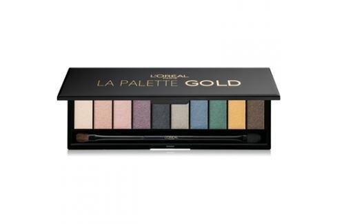 L'Oréal Paris Color Riche La Palette Gold szemhéjfesték paletták tükörrel és aplikátorral  7 g Szemek