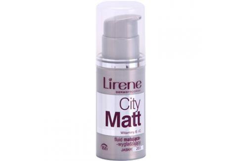 Lirene City Matt mattító make-up folyadék kisimító hatással árnyalat 203 Light  30 ml up
