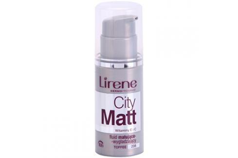 Lirene City Matt mattító make-up folyadék kisimító hatással árnyalat 208 Toffee  30 ml up